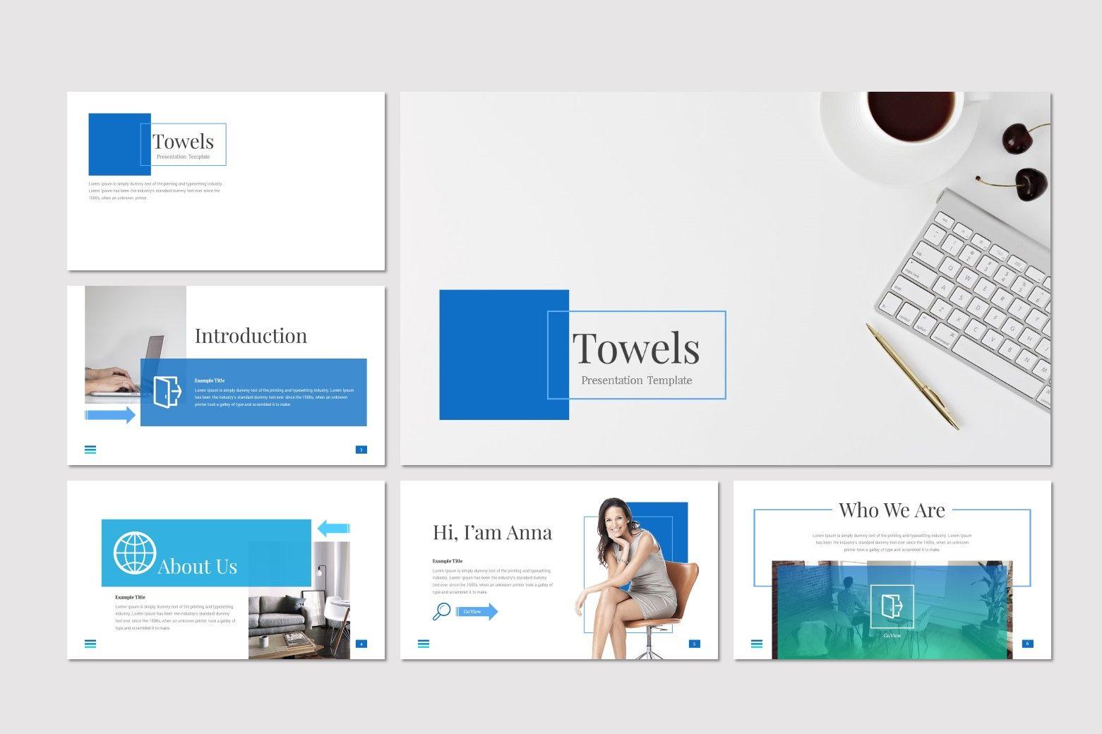 Towels - PowerPoint Template, Slide 2, 08545, Presentation Templates — PoweredTemplate.com