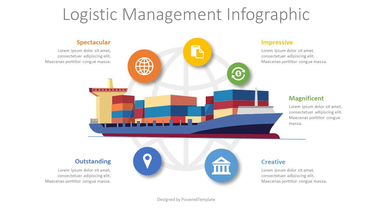 Logistics Management Infographic, 08549, Infographics — PoweredTemplate.com