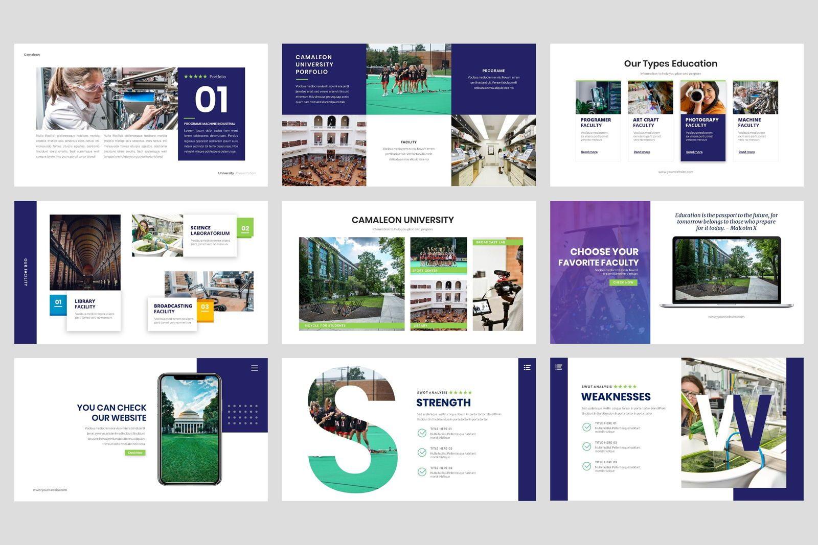University - Education College Google Slide Template, Slide 4, 08550, Presentation Templates — PoweredTemplate.com