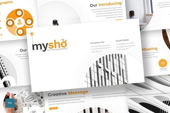 Presentation Templates: Myshio - Keynote Template #08551