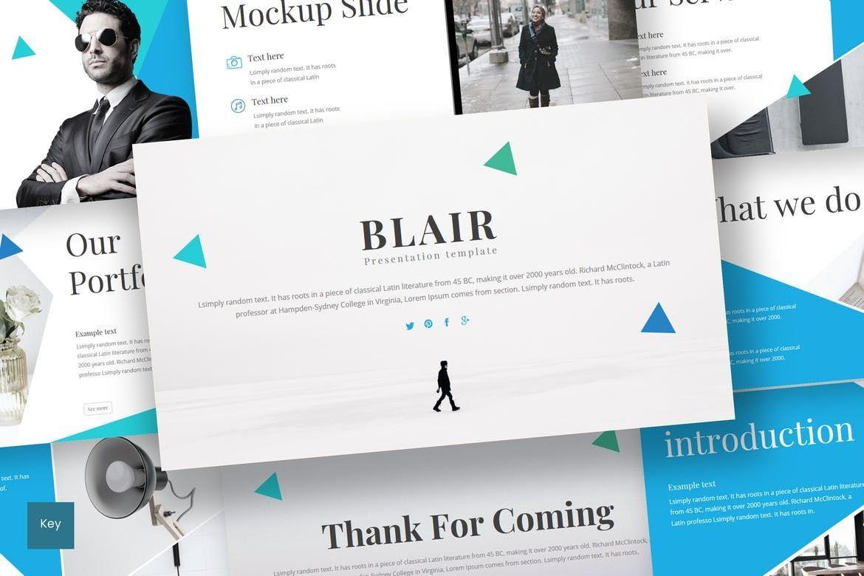 Blair - Keynote Template, 08553, Presentation Templates — PoweredTemplate.com