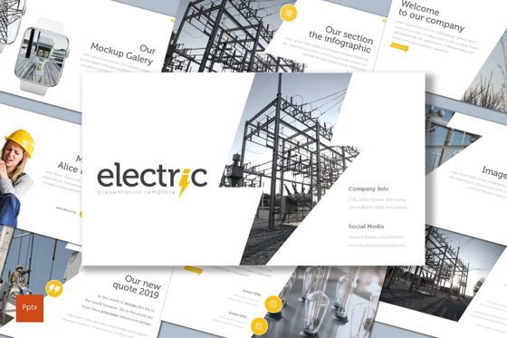 Presentation Templates: Electric - PowerPoint Template #08556
