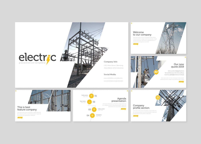 Electric - PowerPoint Template, Slide 2, 08556, Presentation Templates — PoweredTemplate.com