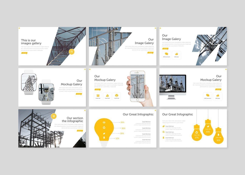 Electric - PowerPoint Template, Slide 4, 08556, Presentation Templates — PoweredTemplate.com
