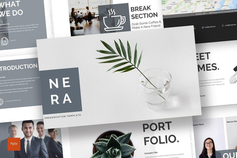 Nera - PowerPoint Template, 08557, Presentation Templates — PoweredTemplate.com