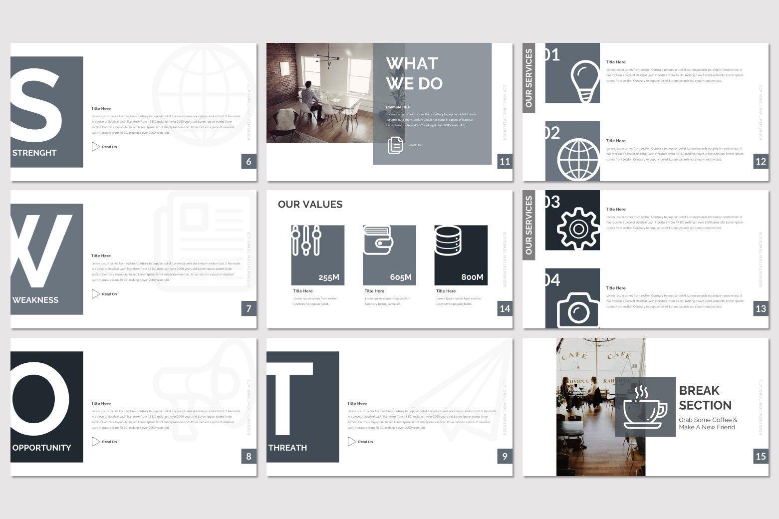 Nera - PowerPoint Template, Slide 3, 08557, Presentation Templates — PoweredTemplate.com
