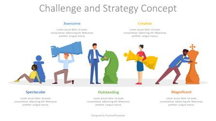 Infographics: Challenge and Strategy Concept #08558