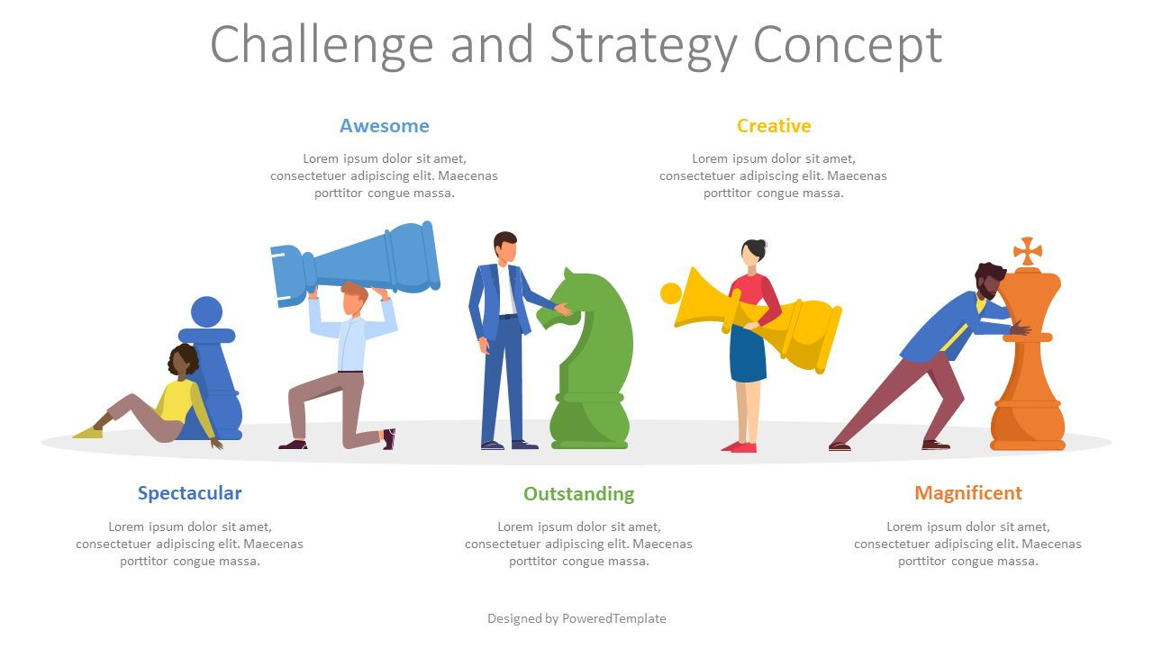Challenge and Strategy Concept, 08558, Infographics — PoweredTemplate.com