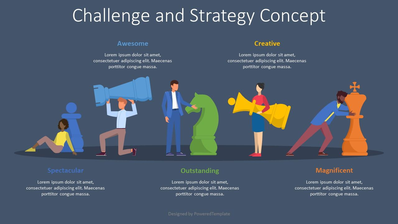 Challenge and Strategy Concept, Slide 2, 08558, Infographics — PoweredTemplate.com