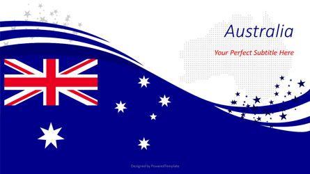 Presentation Templates: Australian Festive Flag #08561
