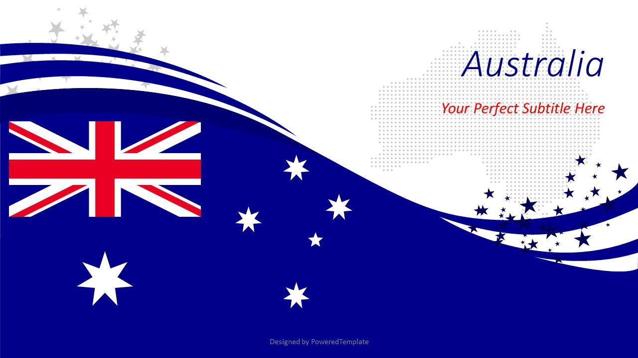 Australian Festive Flag, 08561, Presentation Templates — PoweredTemplate.com