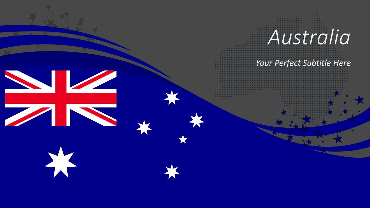 Australian Festive Flag, Slide 2, 08561, Presentation Templates — PoweredTemplate.com