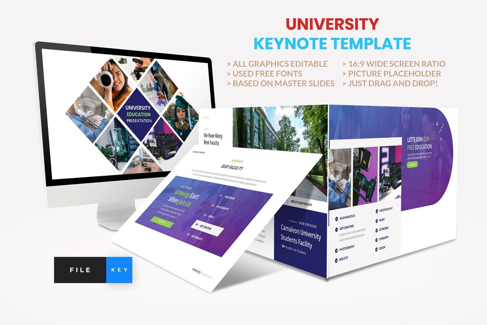 University - Education College Keynote Template, 08562, Presentation Templates — PoweredTemplate.com