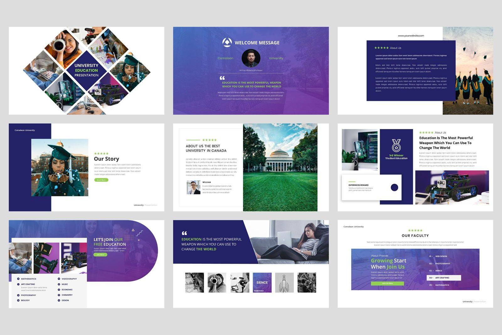 University - Education College Keynote Template, Slide 2, 08562, Presentation Templates — PoweredTemplate.com