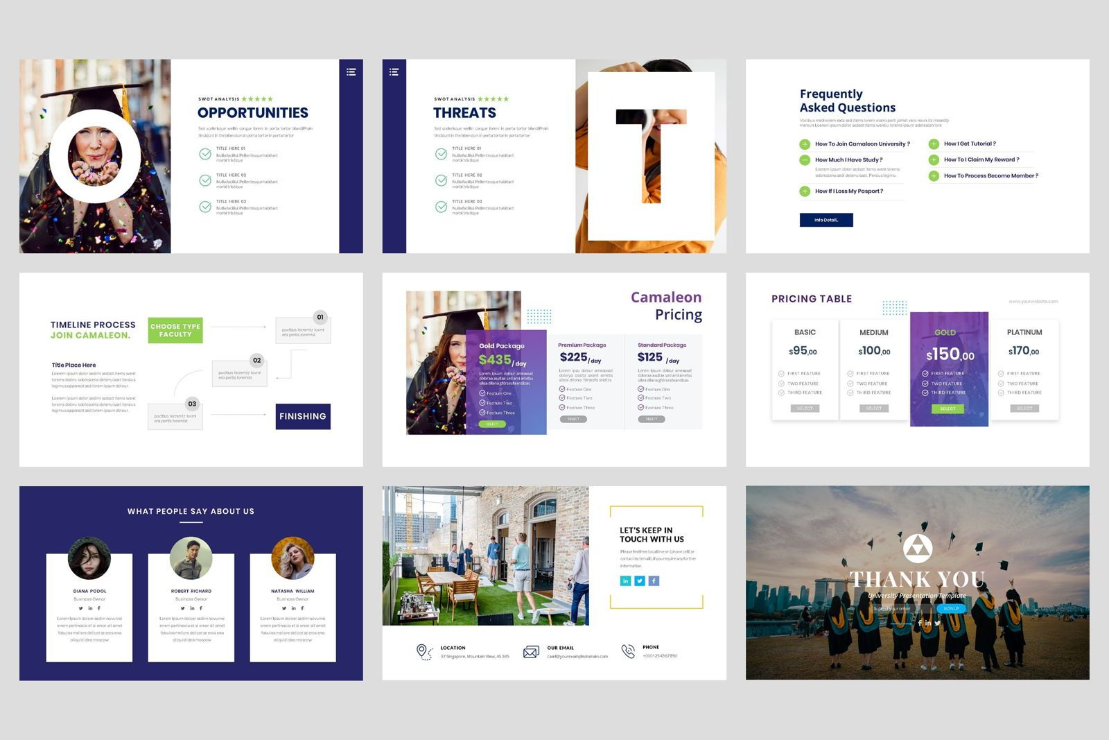 University - Education College Keynote Template, Slide 5, 08562, Presentation Templates — PoweredTemplate.com