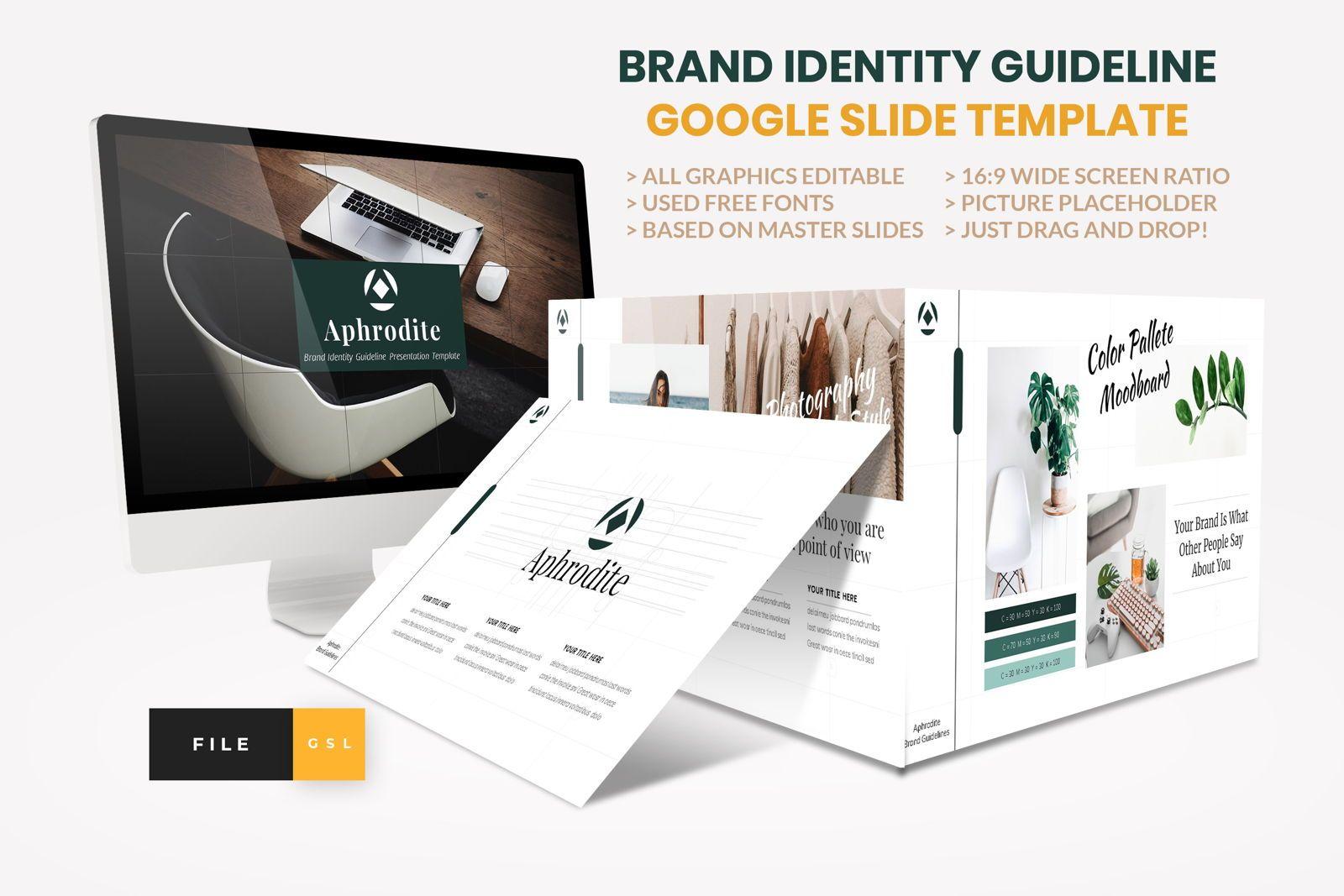 Brand Identity Guideline Google Slide Template, 08563, Presentation Templates — PoweredTemplate.com