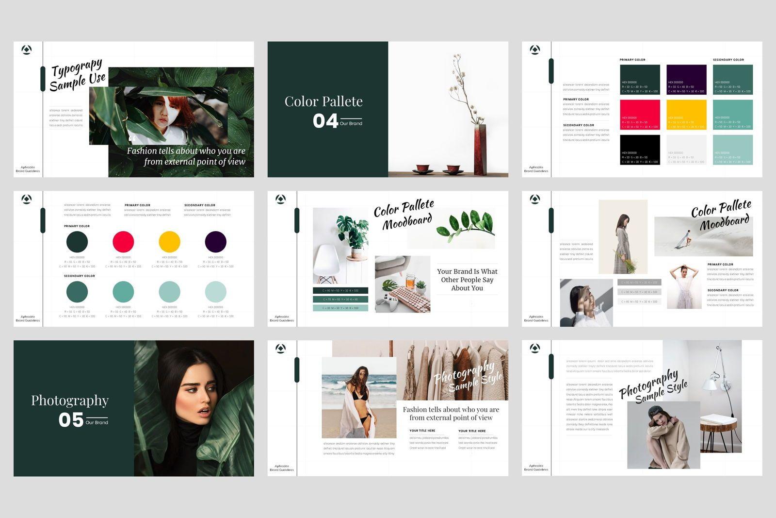 Brand Identity Guideline Google Slide Template, Slide 4, 08563, Presentation Templates — PoweredTemplate.com