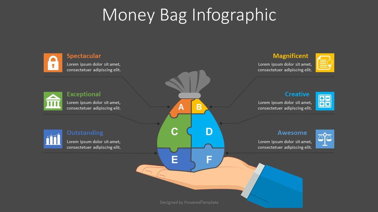 Money Bag Infographic, Slide 2, 08564, Infographics — PoweredTemplate.com