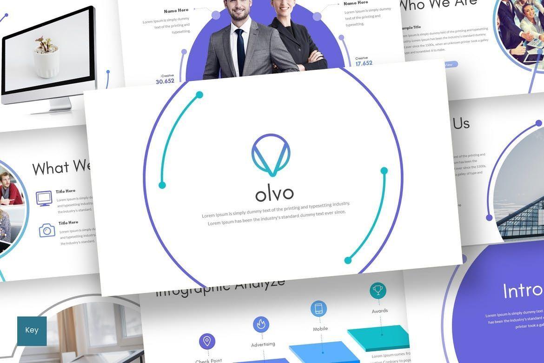 Olvo - Keynote Template, 08566, Presentation Templates — PoweredTemplate.com