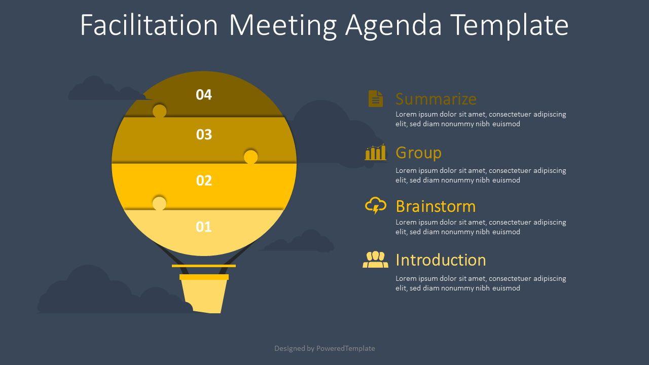 Facilitation Meeting Agenda Template, 08567, Infographics — PoweredTemplate.com