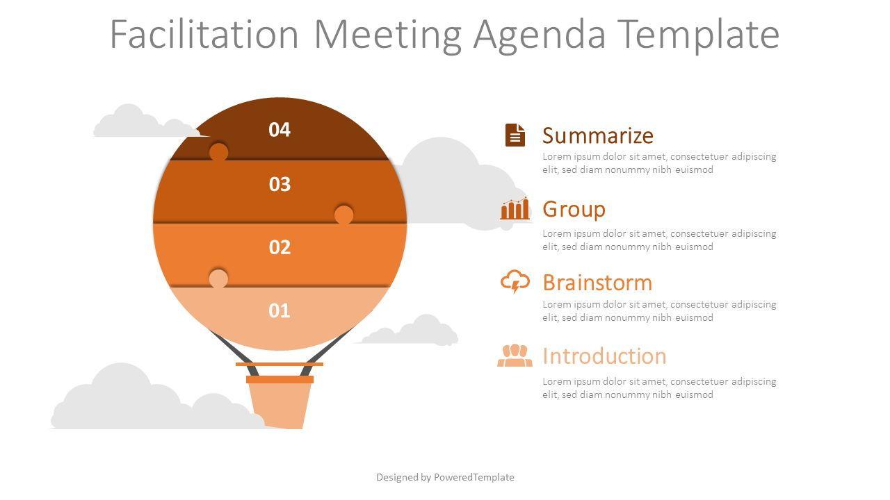 Facilitation Meeting Agenda Template, Slide 2, 08567, Infographics — PoweredTemplate.com