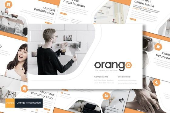 Presentation Templates: Orango - Google Slides Template #08569