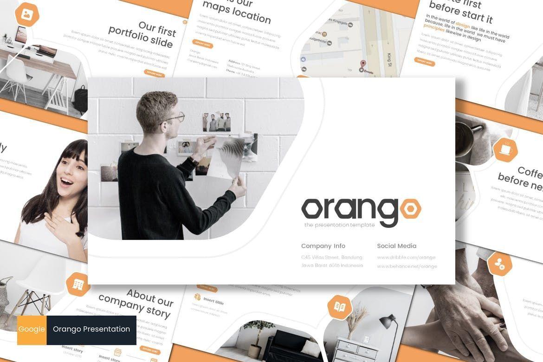 Orango - Google Slides Template, 08569, Presentation Templates — PoweredTemplate.com