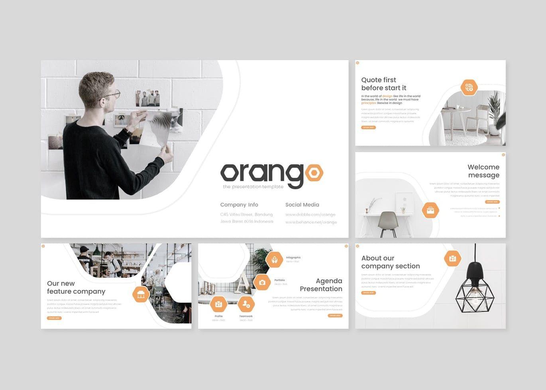 Orango - Google Slides Template, Slide 2, 08569, Presentation Templates — PoweredTemplate.com