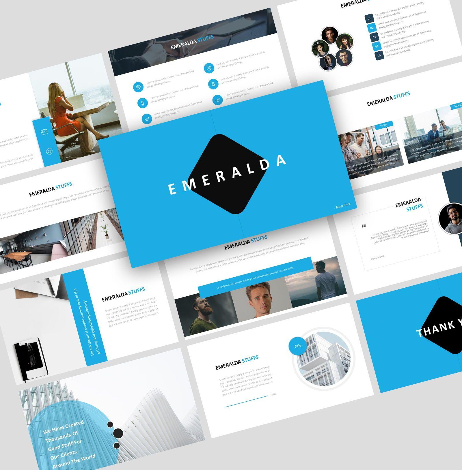 Emeralda – Creative Google Slide Business Template, 08570, Business Models — PoweredTemplate.com