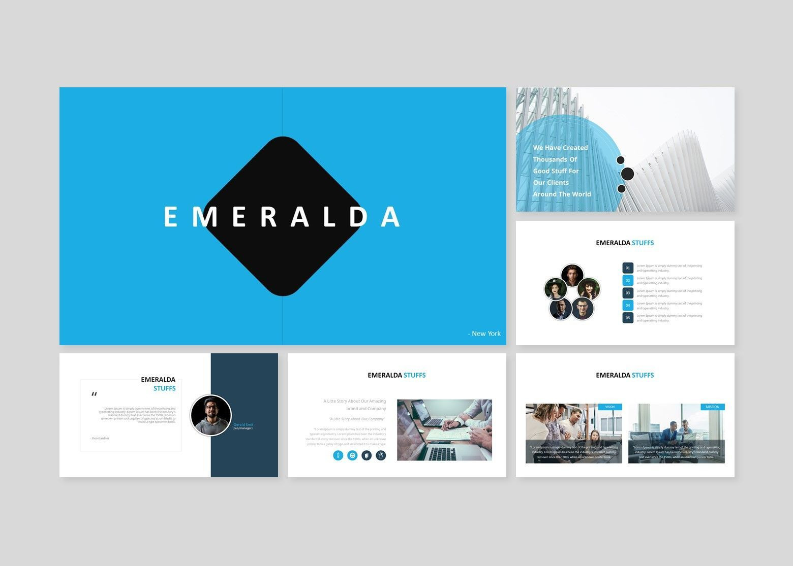 Emeralda – Creative Google Slide Business Template, Slide 2, 08570, Business Models — PoweredTemplate.com