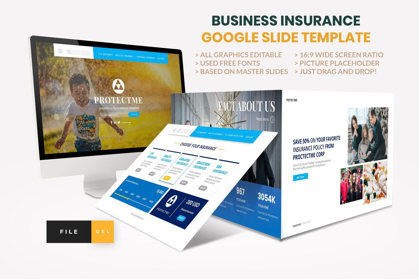 Insurance - Business Consultant Google Slide Template, 08571, Presentation Templates — PoweredTemplate.com