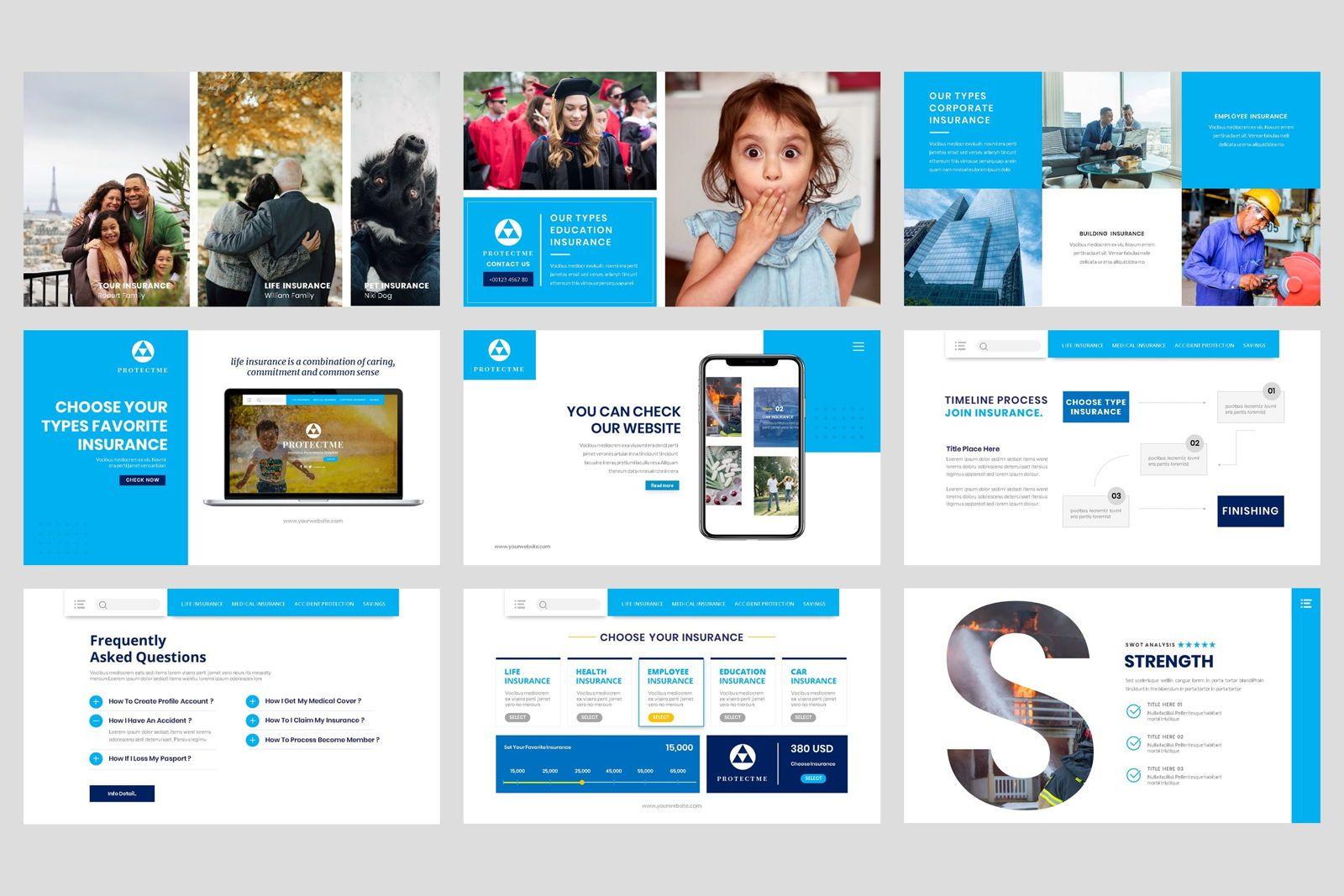 Insurance - Business Consultant Google Slide Template, Slide 4, 08571, Presentation Templates — PoweredTemplate.com
