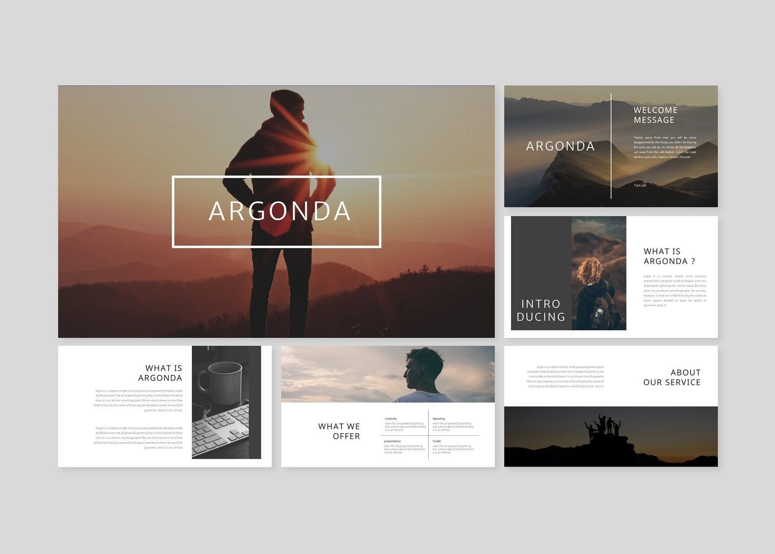 Argonda – Creative Google Slide Business Template, Slide 2, 08573, Business Models — PoweredTemplate.com