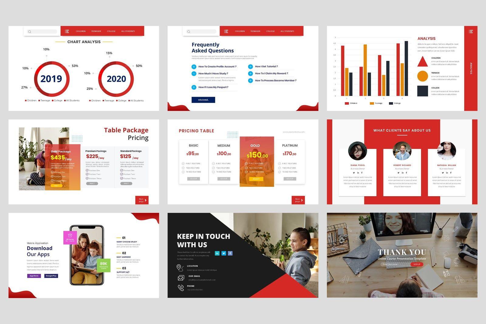 Online Course - Education Google Slide Template, Slide 5, 08574, Presentation Templates — PoweredTemplate.com