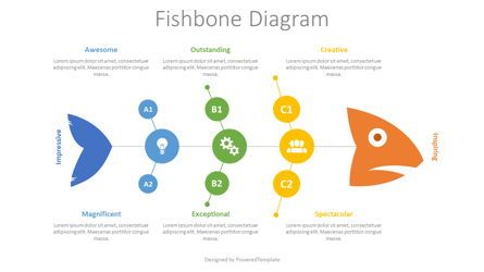 Business Models: Fishbone Diagram Concept #08575