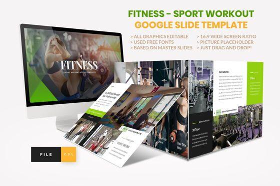 Presentation Templates: Sport - Fitness Business Workout Google Slide Template #08577