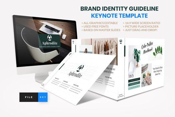 Presentation Templates: Brand Identity Guideline Keynote Template #08580