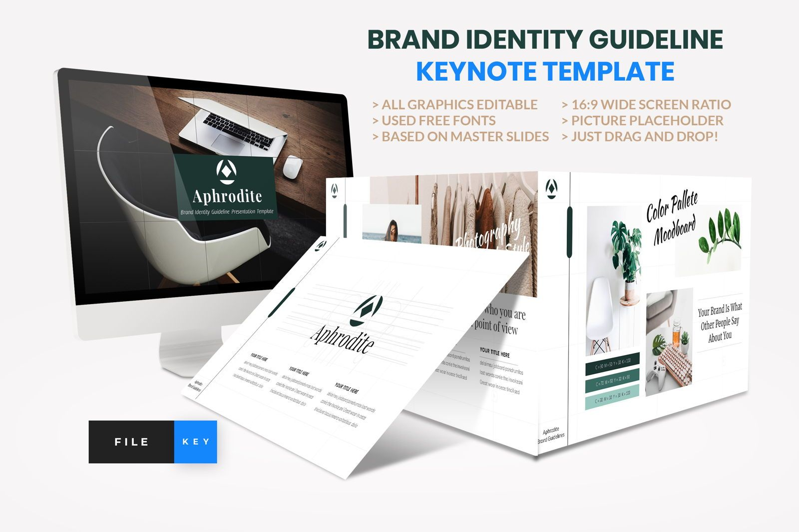Brand Identity Guideline Keynote Template, 08580, Presentation Templates — PoweredTemplate.com