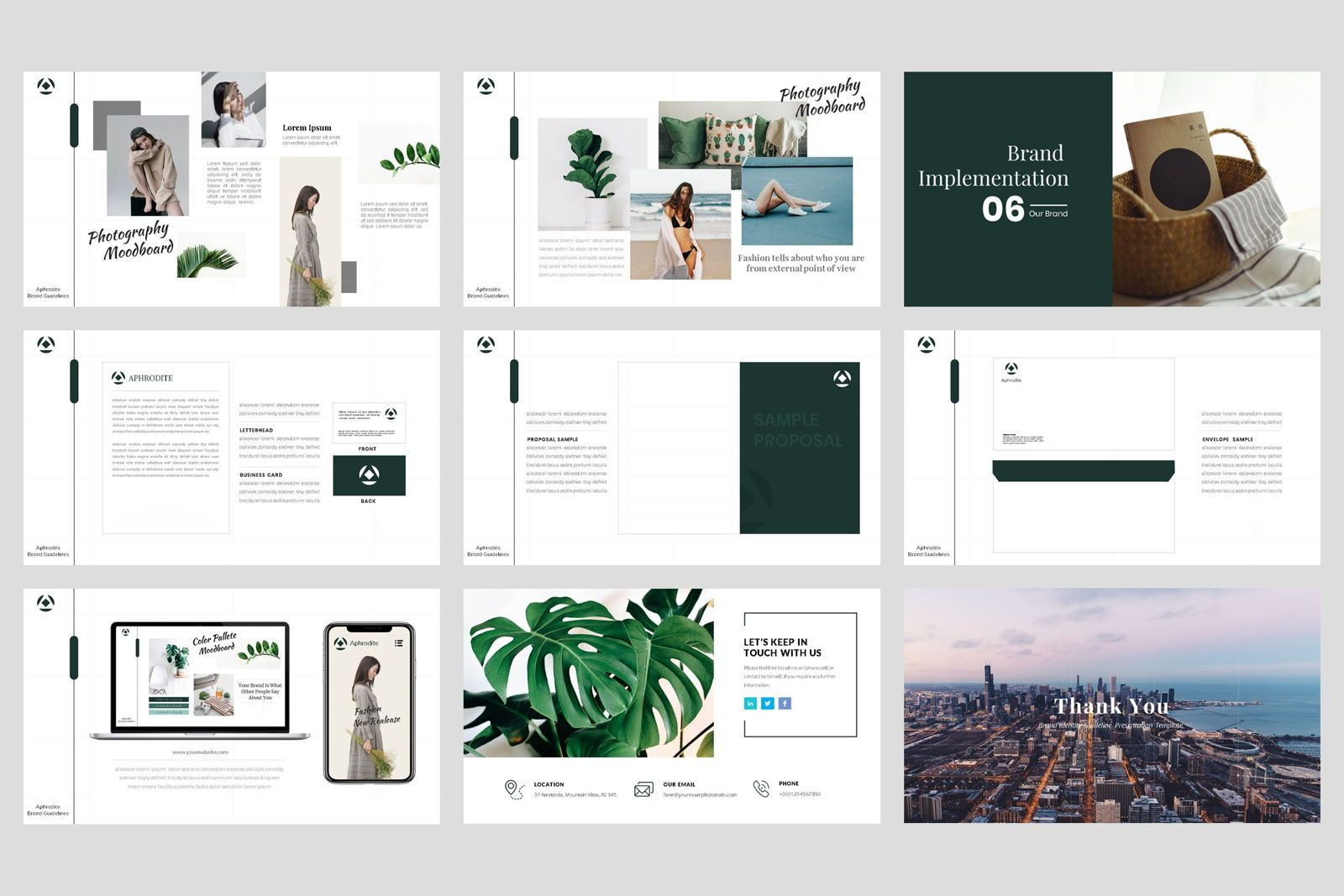 Brand Identity Guideline Keynote Template, Slide 5, 08580, Presentation Templates — PoweredTemplate.com