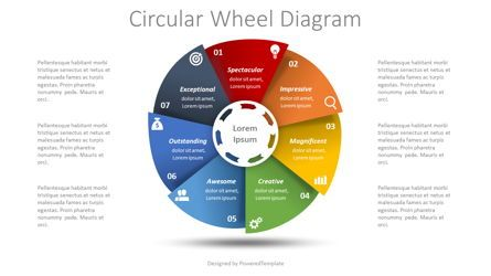 Infographics: Process Wheel Diagram #08581