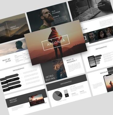 Business Models: Argonda – Creative Keynote Business Template #08582