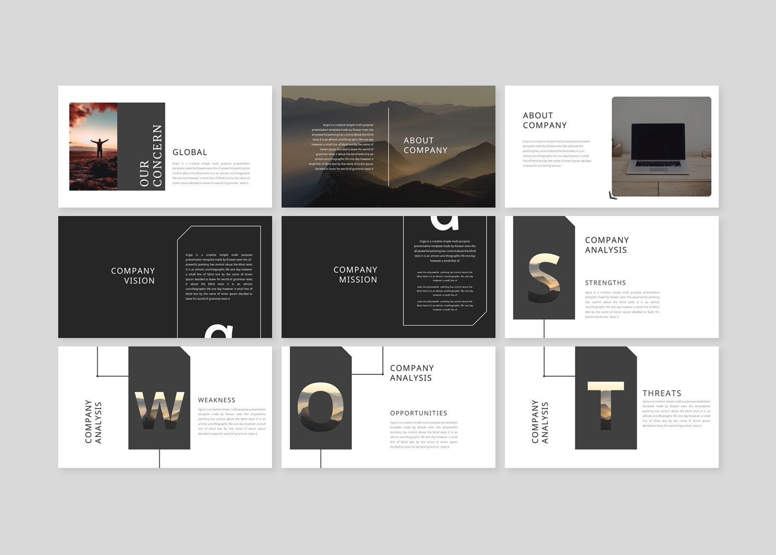 Argonda – Creative Keynote Business Template, Slide 3, 08582, Business Models — PoweredTemplate.com