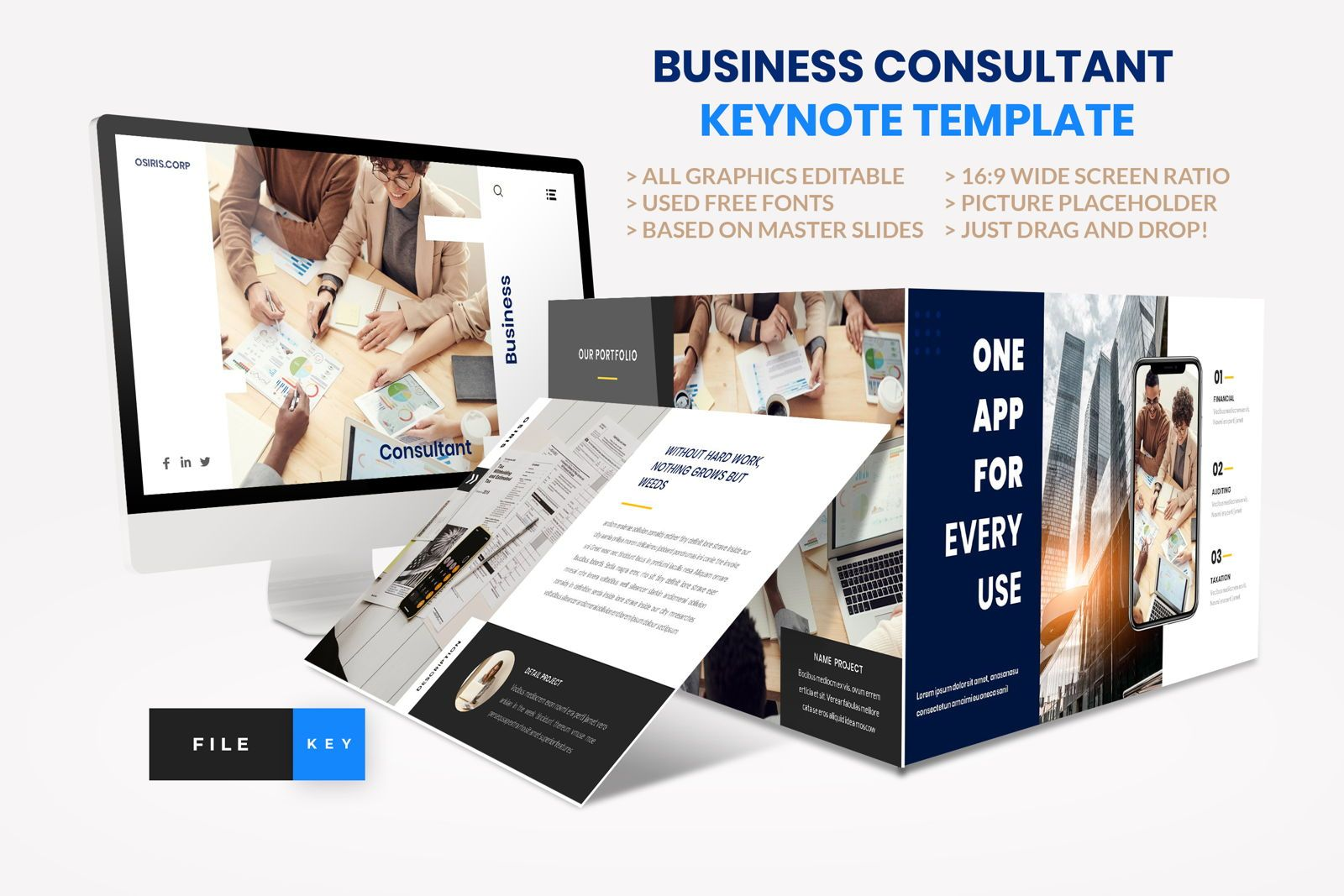 Business - Consultant Finance Keynote Template, 08583, Presentation Templates — PoweredTemplate.com