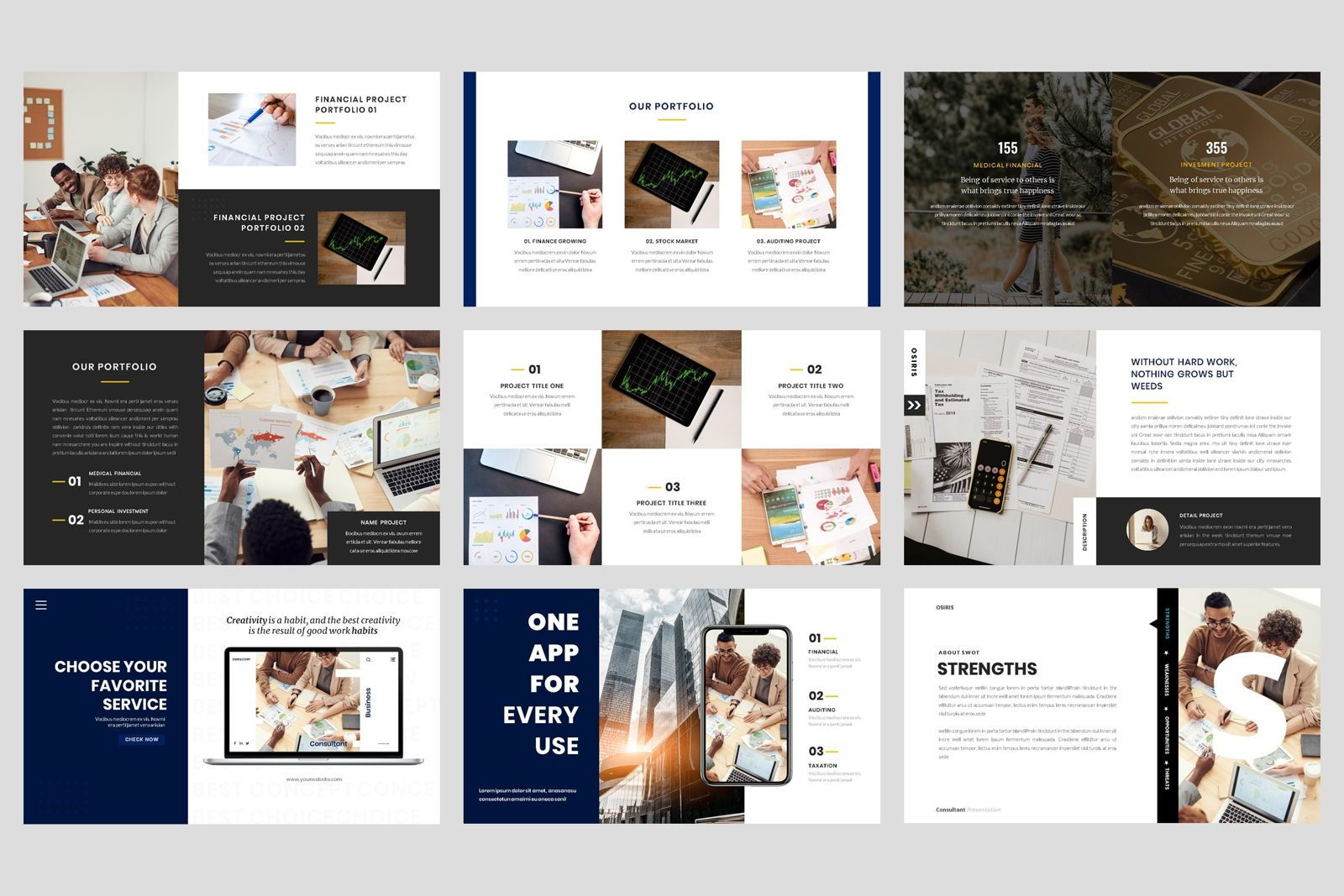 Business - Consultant Finance Keynote Template, Slide 4, 08583, Presentation Templates — PoweredTemplate.com