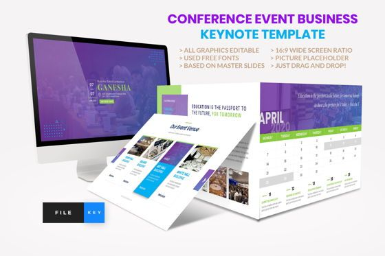Presentation Templates: Conference - Event Business Keynote Template #08586