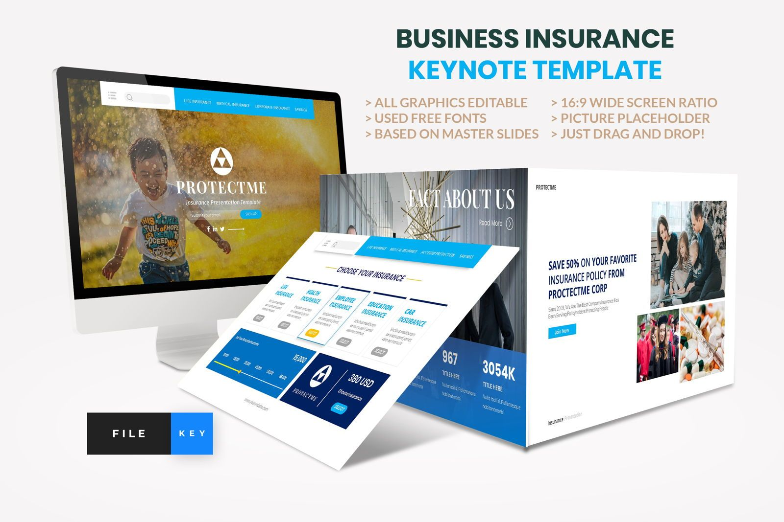 Insurance - Business Consultant Keynote Template, 08588, Presentation Templates — PoweredTemplate.com