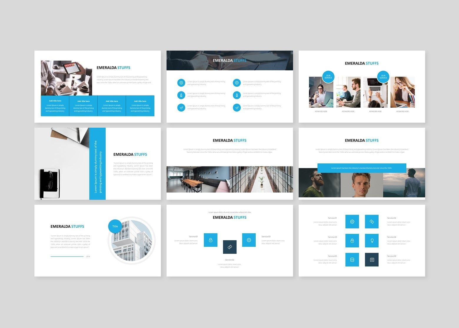 Emeralda – Creative Business PowerPoint Template, Slide 3, 08591, Business Models — PoweredTemplate.com