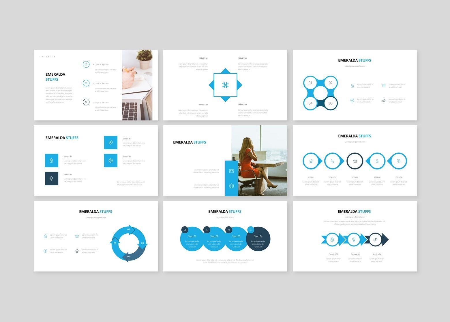 Emeralda – Creative Business PowerPoint Template, Slide 4, 08591, Business Models — PoweredTemplate.com