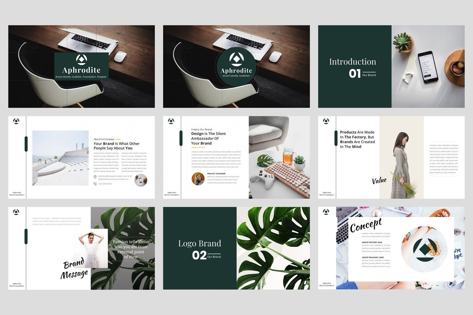Brand Identity Guideline PowerPoint Template, Slide 2, 08594, Presentation Templates — PoweredTemplate.com