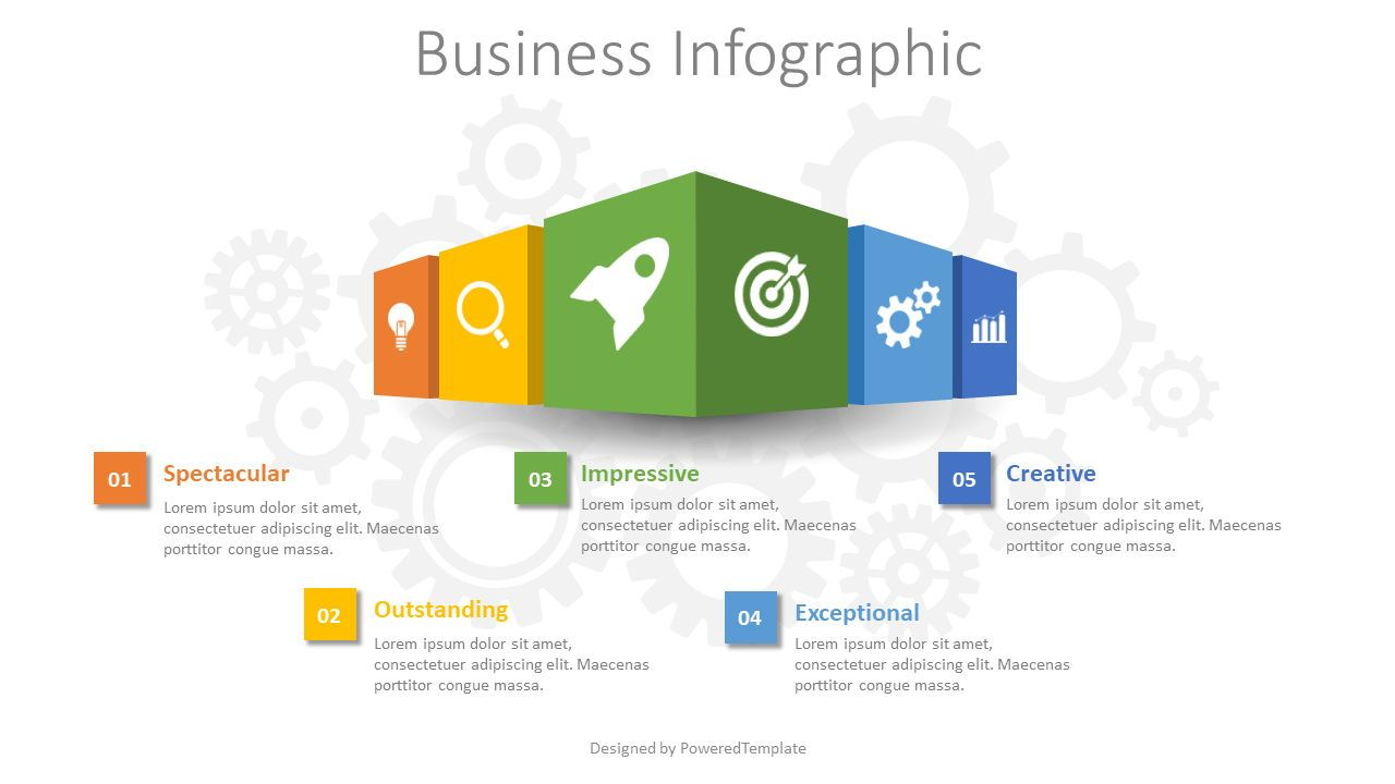 Business Infographic, 08596, Infographics — PoweredTemplate.com